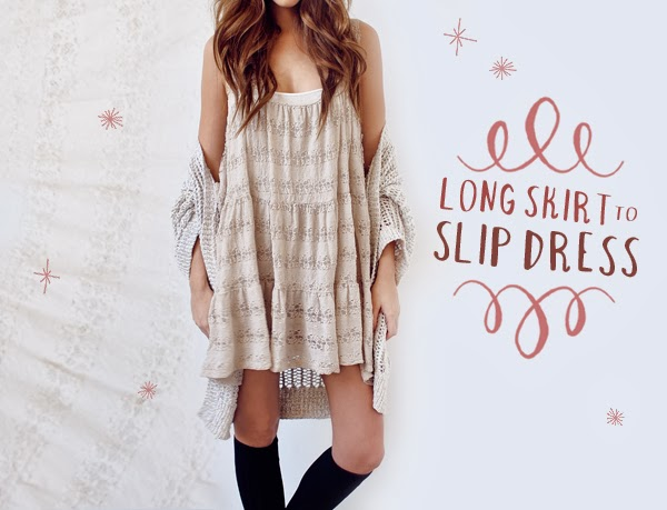 Galerry slip dress diy