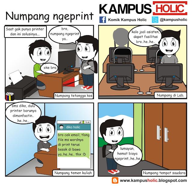 #154 komik  mahasiswa Numpang ngeprint