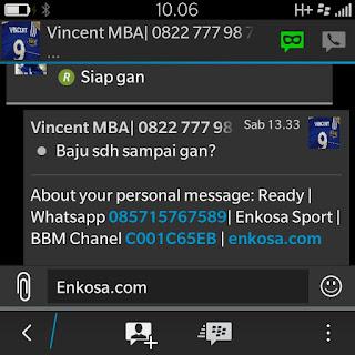gambar testimoni screen shot testimoni vincet untuk enkosa sport toko online jersey bola terpercaya lokasi di jakarta