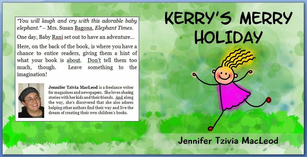 Sample children's book cover created FREE with Write Kids' Books Cover Template