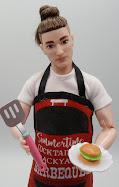 DIY Barbie Blog: $1 store ken bbq apron