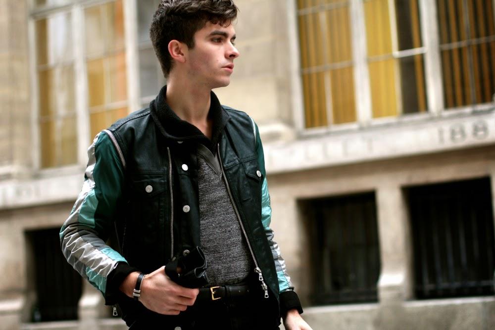 Dries Van Noten veste jacket - rykiel sweater pull • Asos skinny jeans - kaporal gloves gants - clarks x norton boots chaussures - BLOG MODE HOMME MENSFASHION