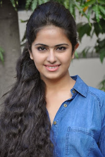 Acress Avika Gor Pictures in Pink Tight Jeans at Uyyala Jampala Movie Press Meet 0001.jpg