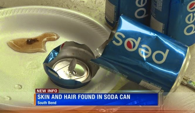 Hairy Skin Found Inside Man's Pepsi Soda Can