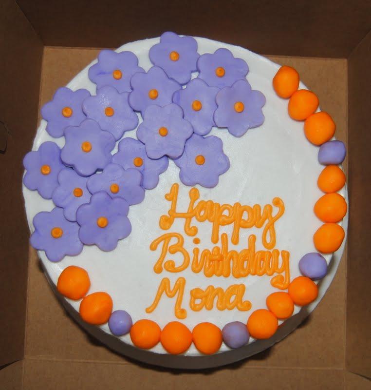 baked by ash: Purple Flower Birthday Cake