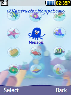 GT-S5530 Sea Place Samsung Themes Free Download Menus