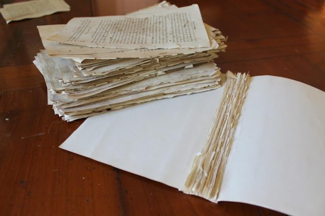 tear pages out of books