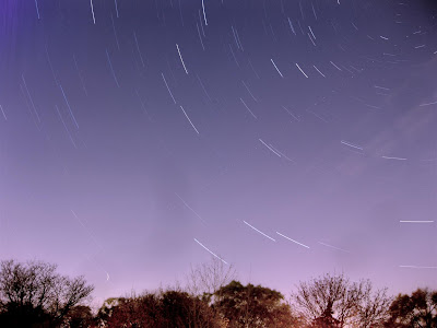 star trails, exposure time, star, sky, night