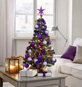 arbol navideño morado