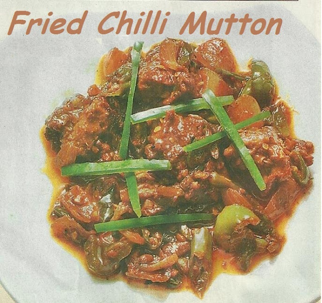 Fried Chilli Mutton- Special Diwali Snack