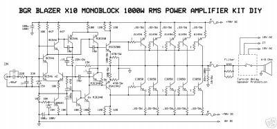 BLAZER 1000 WATT    POWER       AMPLIFIER    CIRCUIT    DIAGRAM      Wiring    Diagram
