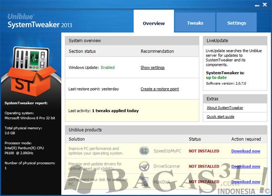 Uniblue SystemTweaker 2013 2.0.7.0 Full Serial