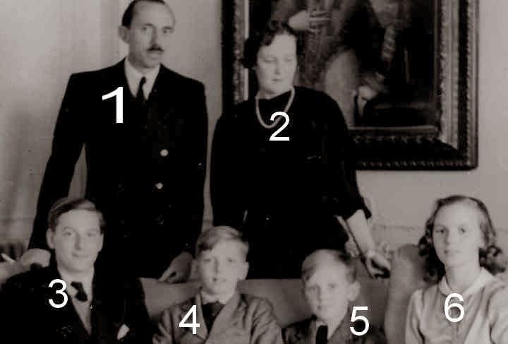 René, Margrethe, Jacques, Michel, André et Anne de Bourbon-Parme