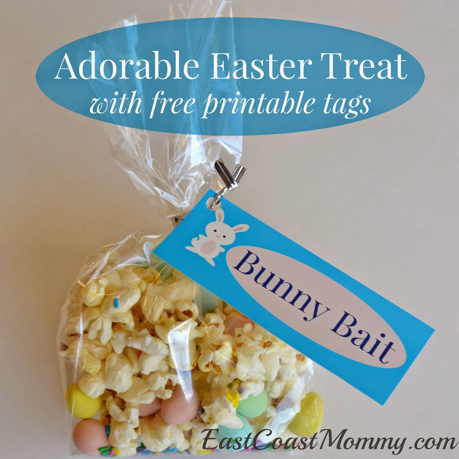 photo regarding Bunny Bait Printable named East Coastline Mommy: Bunny Bait with absolutely free printable tags)