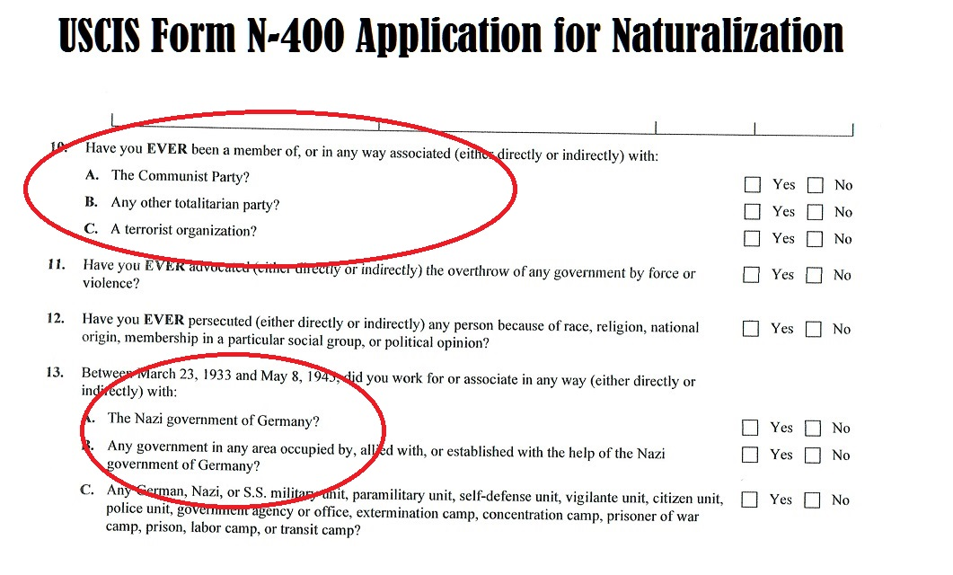 Form N 400 Us Citizenship Application Gallery Free Form Design