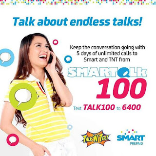 SMART TALK 100 promo offers 5 days unli call to Smart and Talk N Text
