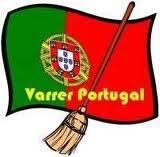 Bandeira Portugal lixo