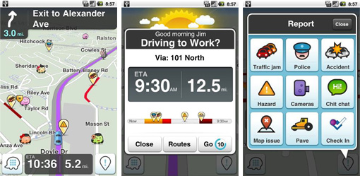 voiture communicante waze lance une nouvelle version de son application android. Black Bedroom Furniture Sets. Home Design Ideas