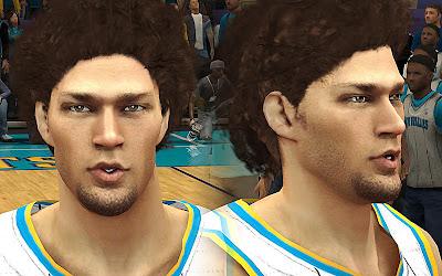 NBA 2K13 Robin Lopez Cyberface Mod