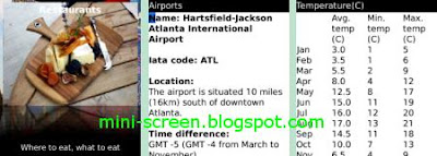 New York City Traveler Blackberry app interface