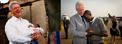 Bill Clinton with his namesake Bill Clinton then and now in Uganda