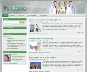 Health Insurance Blogger Template