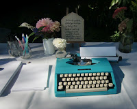 Classic sky blue typewriter       Photo by Patricia Stimac