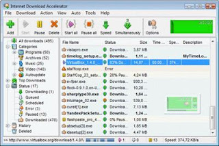 Internet Download Accelerator you can and save video from popular video sharing services: YouTube, Google Video, Metacafe and others
