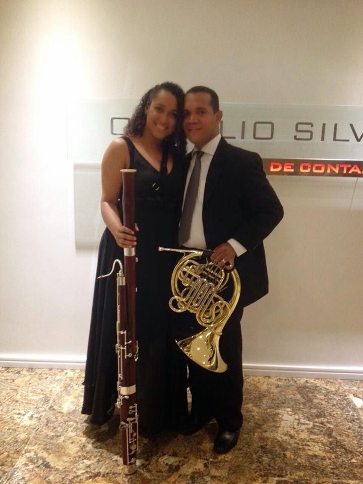 Bruna e seu esposo Fabiano, Grande trompista