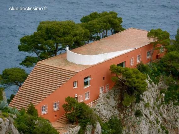 Villa Malaparte vista a vuelo de pájaro