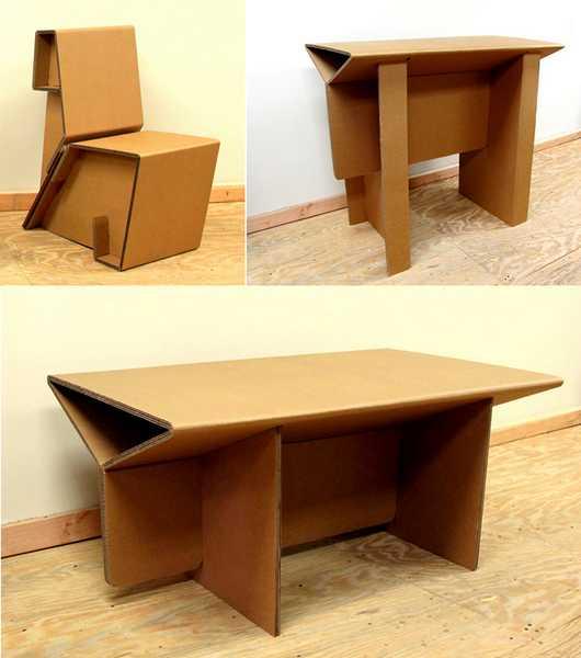 Furniture Unik Kursi Meja Lemari Terbuat Dari Kardus