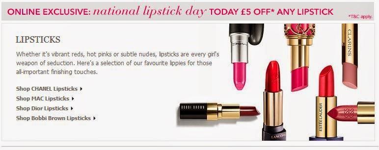 £5 Off Lipstick at Debenhams Online Today Inc. MAC!