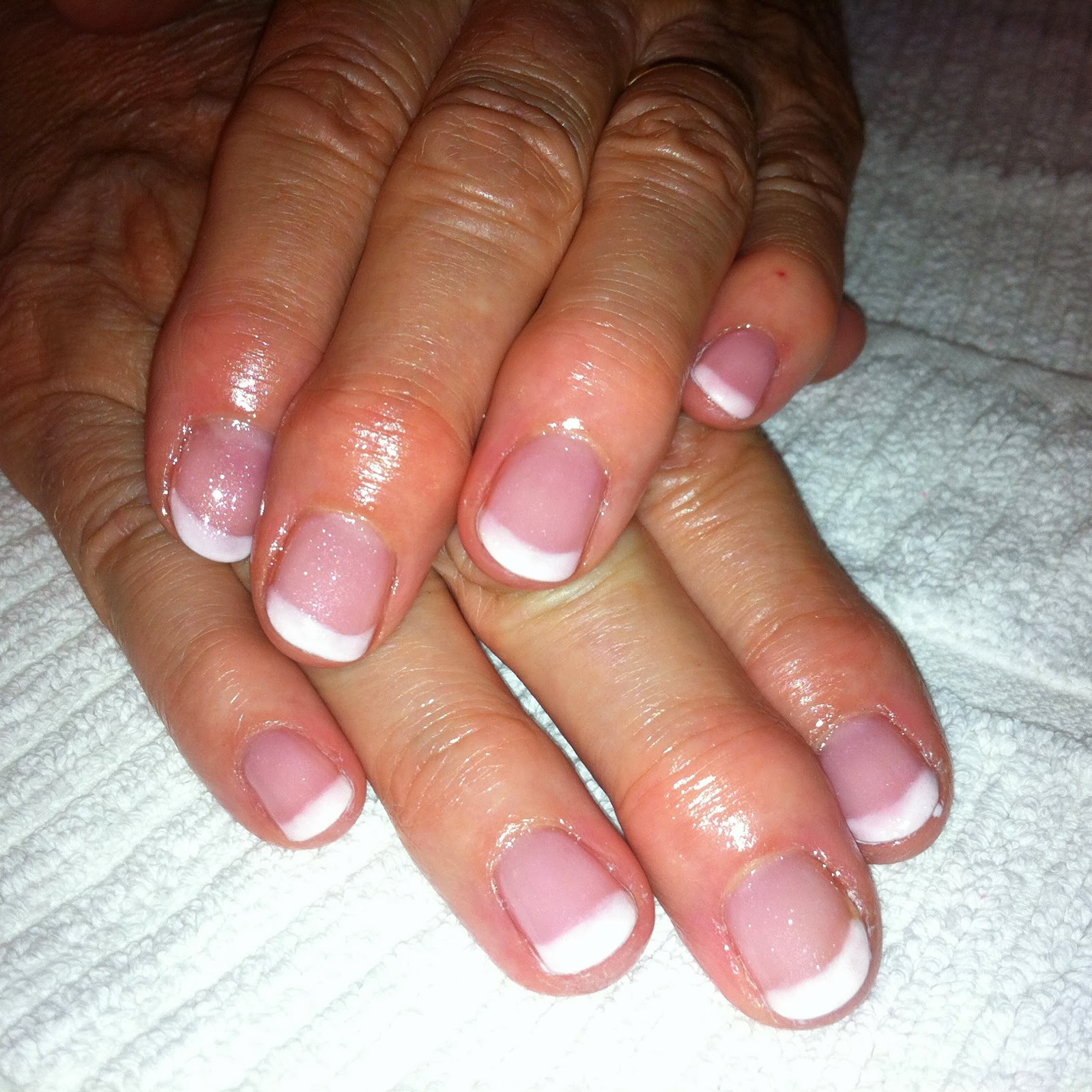 Gel Polish Simple French Manicure