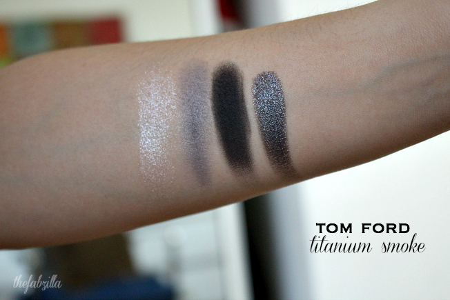 Review Titanium Smoke palette,Tom Ford Titanium Smoke review, swatch, smokey eyes, smoky eyes, how to smokey eyes