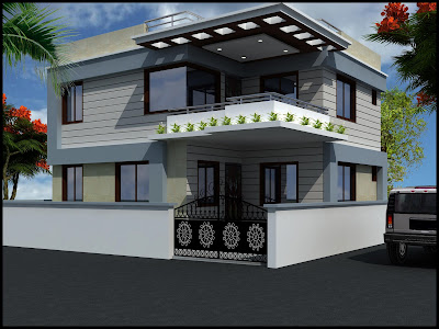 3 Bedrooms Duplex House Design in 132m2 (12m X 11m) ~ Complete ...