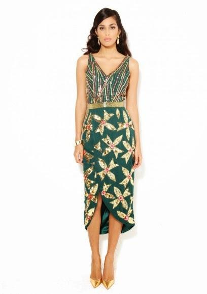 Virgos Lounge midi green dress