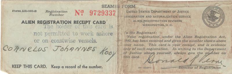 Registration Receipt Card Registration Receipt Card