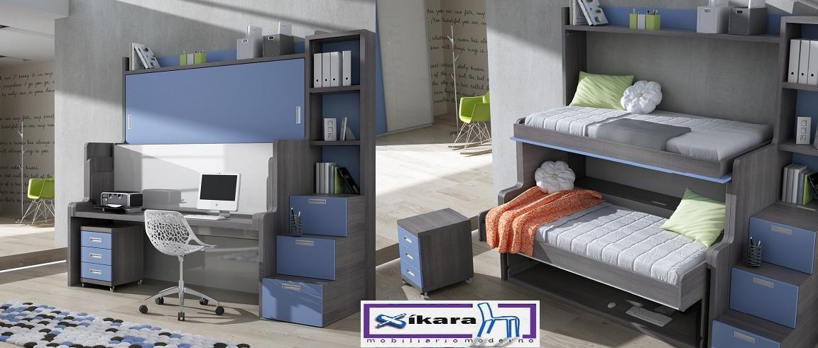 Habitaciones juveniles peque as for Habitaciones juveniles compactas