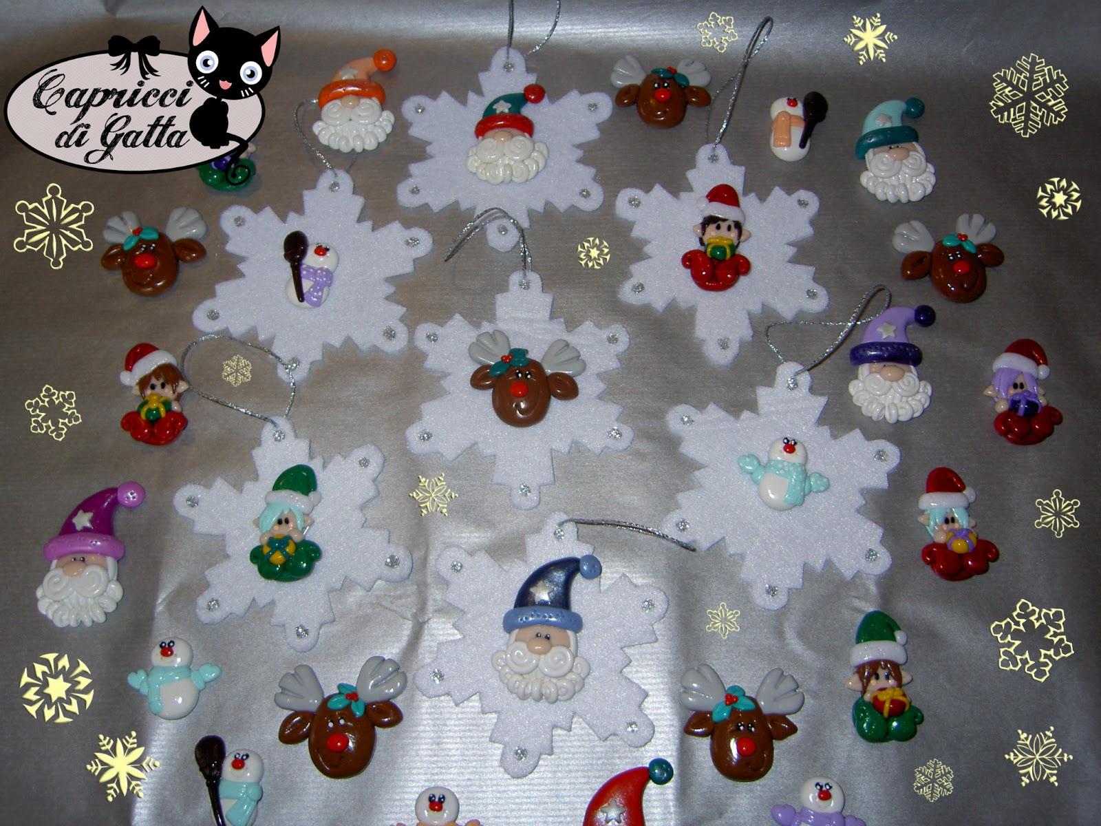 Capricci di gatta originali decorazioni per l 39 albero di for Creazioni di natale fatte a mano