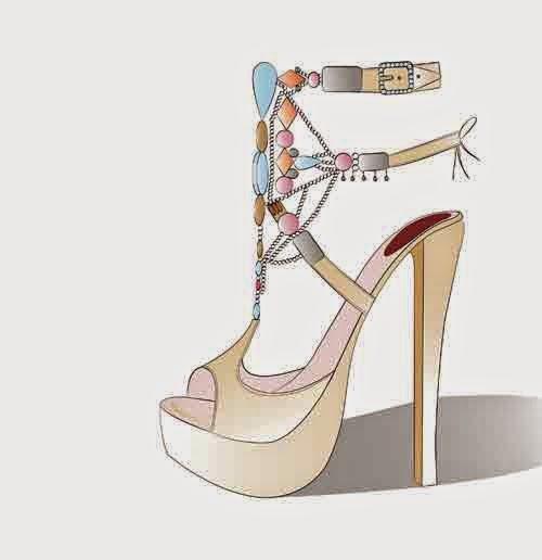 dibujo de zapato de Sara Navarro