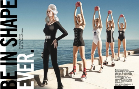 Carmen Dell'Orefice Be In Shape Ever for Vogue Italia