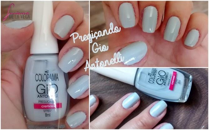 esmalte Preguiçando Gio Antonelli Colorama azul claroverniz polishnail manicure