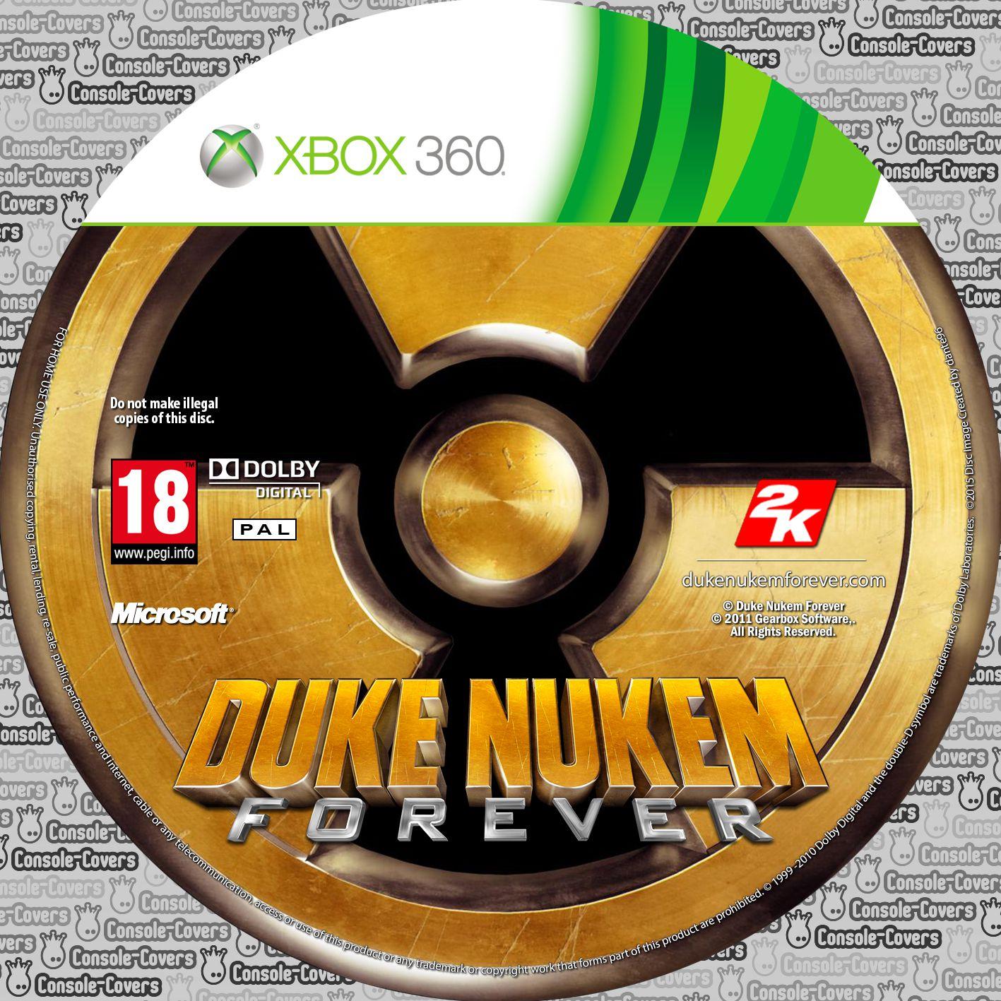 Label Duke Nukem Forever Xbox 360