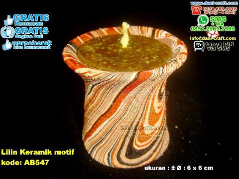 Lilin Keramik Motif