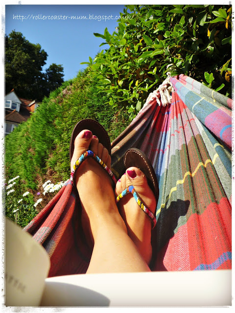 Aspiga sandals - relaxing in the sun