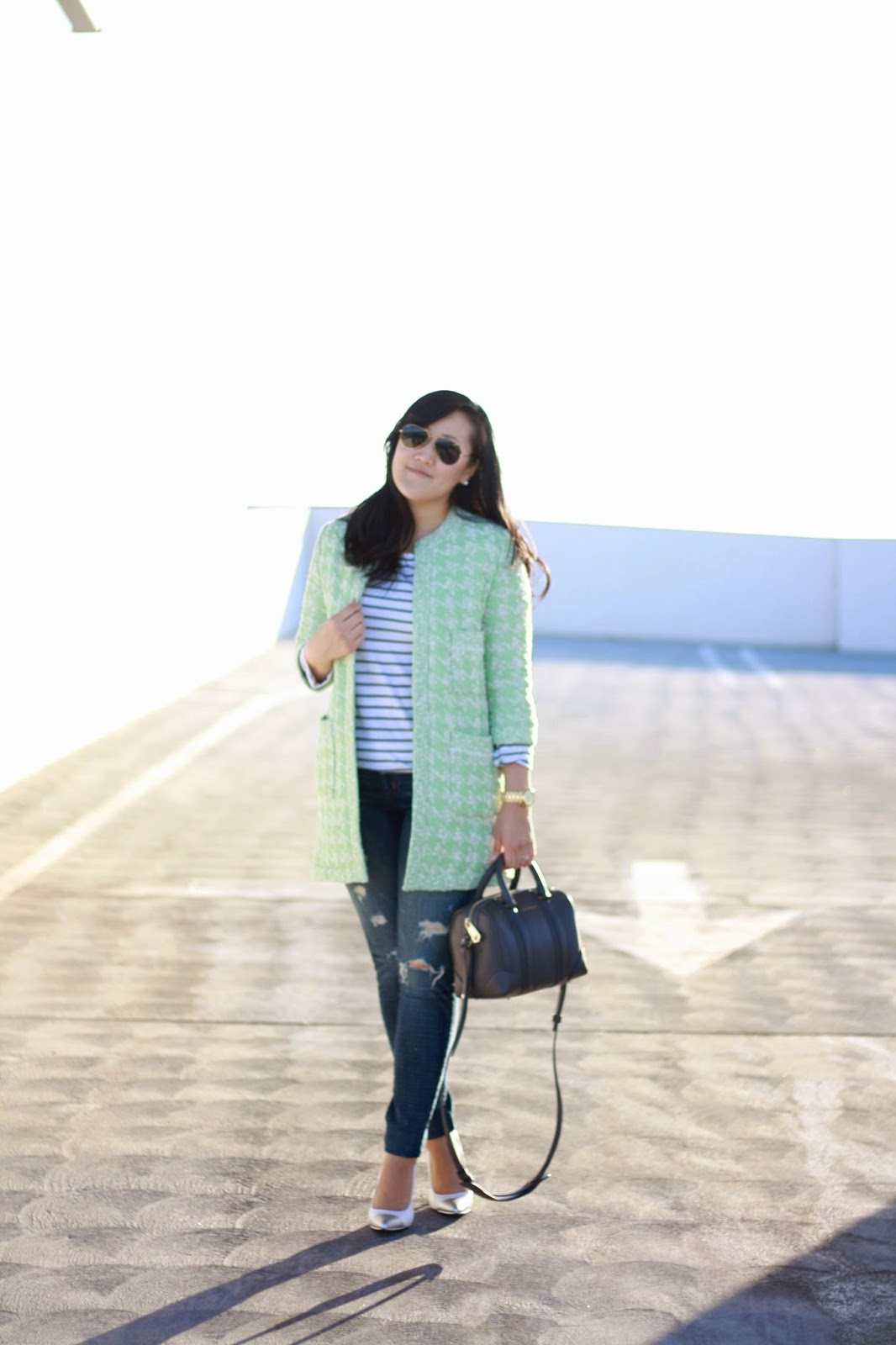 simplyxclassic, blogger, orange county, style blogger, fashion blogger, zara, mint, houndstooth, rayban, michael kors, givenchy handbag, loft, mommy blogger