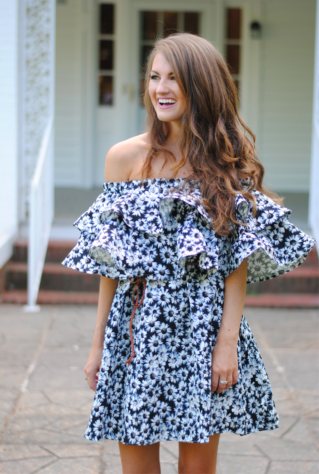 Off shoulder ruffle dress… perfect