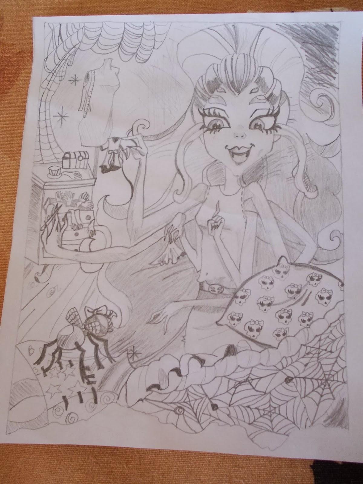 Mh Zuzka Monster High Moje Kresba Tuzkou Wydowny Z Knihy Co Je