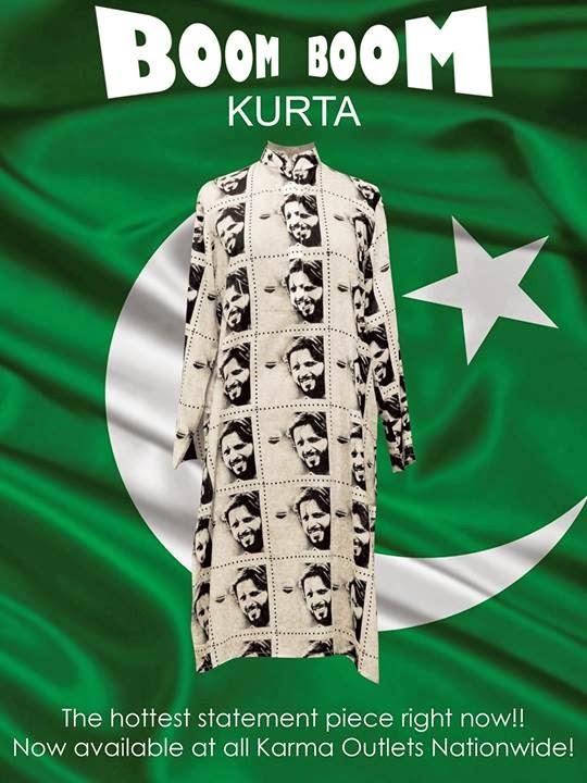 Shahid Afridi Boom Boom kurta by karma