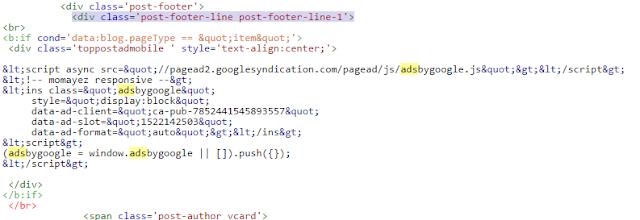 ضافة اعلانات جوجل ادسنس داخل مواضيع بلوجر للموبايل والجوال